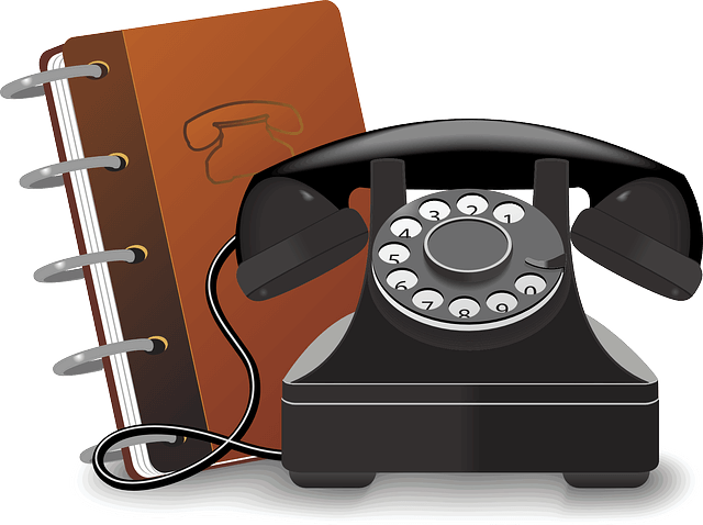 Image of a telephone and address book, representing how lawyer directories are an essential method of potential clients finding attorneys and law firms online.