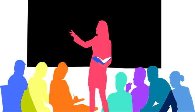 Image of outlined bodies in a seminar, representing the free WV CLE courses offered to WV bar organizations by TOPDOG Legal Marketing, LLC.