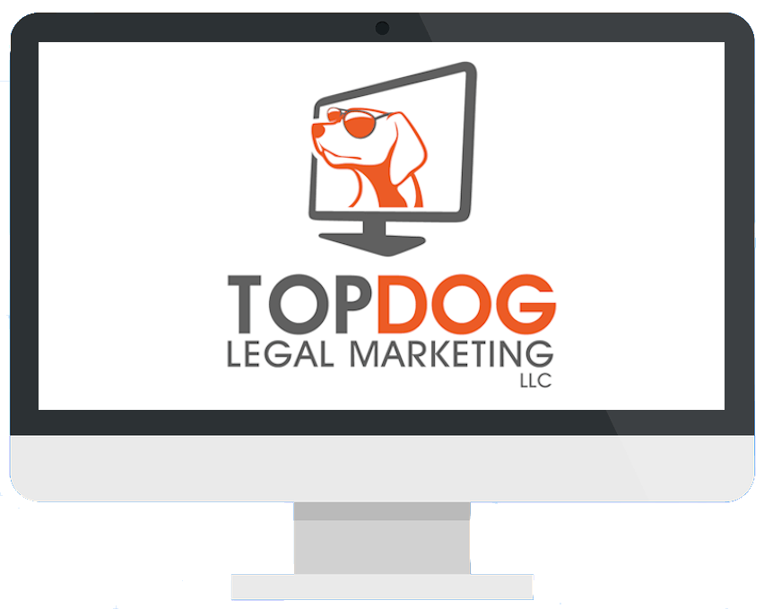 Icon of TOPDOG Legal Marketing logo on a desktop screen, representing how TOPDOG Legal Marketing, LLC helps attorneys and firms through legal marketing and legal ethics CLEs delivered in person or online.