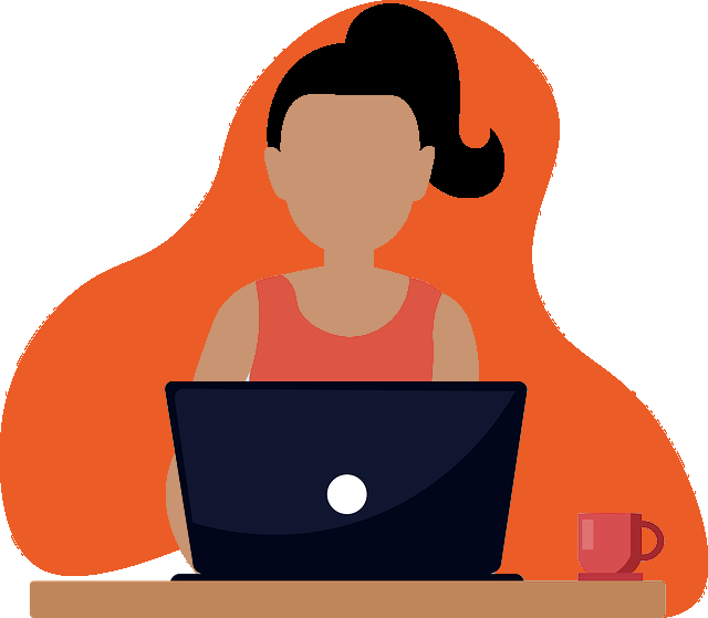 Image of a woman typing on a laptop, representing the attorneys and firms who've found success in their marketing campaigns after taking a TOPDOG Legal Marketing, LLC legal marketing and legal ethics CLE.